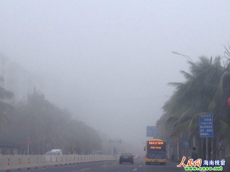 海口市区大雾弥漫 高清图片