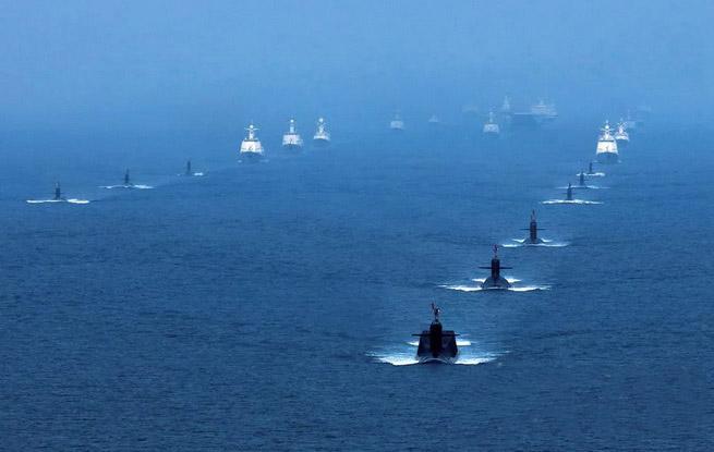 南海海域海上阅兵精彩影像曝光