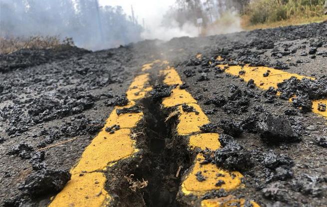 探访夏威夷火山喷发受灾区域