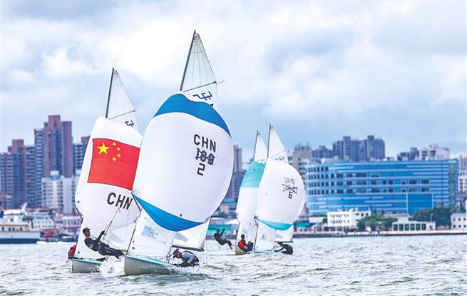 海南省运会帆船帆板赛海口扬帆