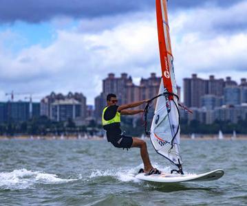 海南省运会帆船帆板比赛首日 白沙县运动员表现出色