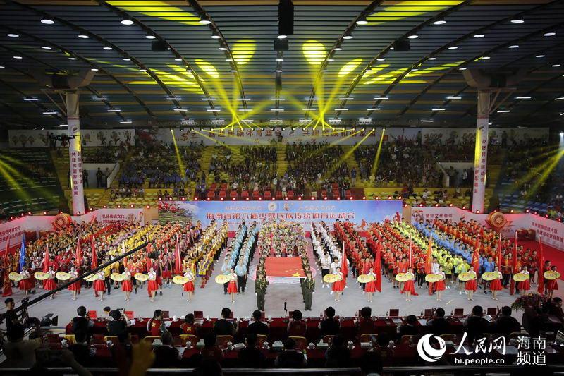 海南省第六届少数民族传统体育运动会在昌江隆重开幕