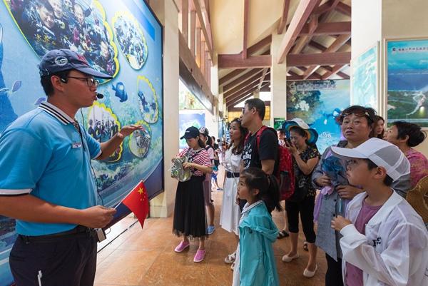 分界洲岛旅游区内导向游客介绍旅游项目