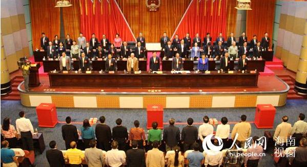 三亚市七届人大五次会议隆重开幕
