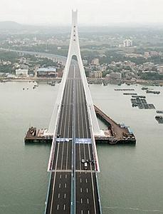 航拍:海文大桥正式通车