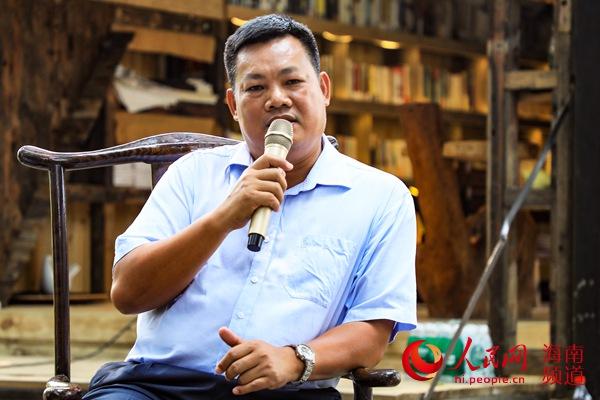 海南省民族博物館陳列群工科科長、副研究館員韋慎發言