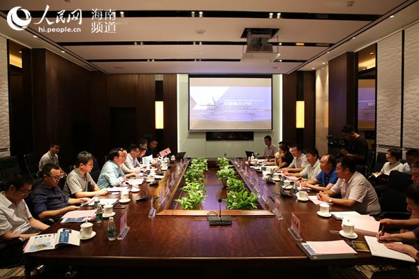 中组部团中央来琼博士办事团与洋浦工委管委会召开座谈会