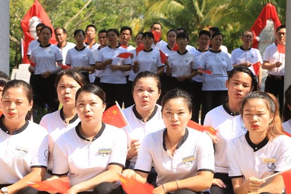 定安文笔峰民族英雄园举行开园仪式