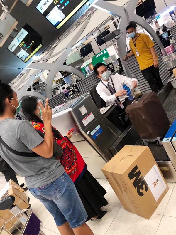 泰国华侨给三亚红十字会捐赠19箱