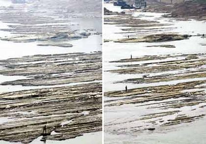 助重庆,嘉陵江涨水近1米图片