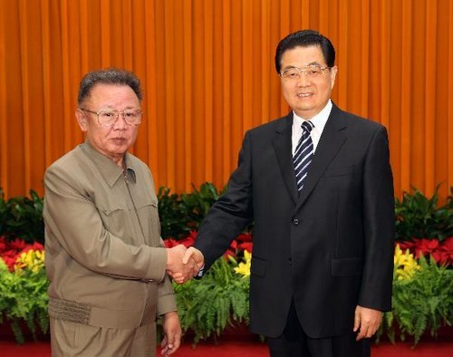 朝鲜最高领导人金正日对我国进行非正式访问